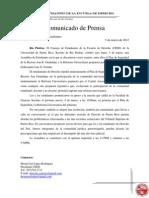 COMUNICADO ASAMBLEA DERECHO