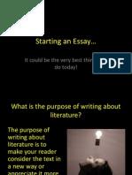 Starting an Essay