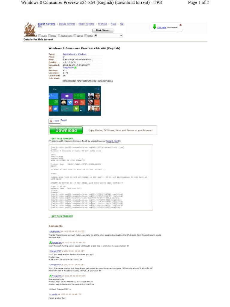 windows 10 32 bit torrent tpb
