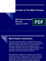 Overview of the M&a Process-1