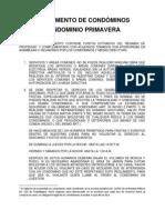 Reglamento General Condominio Primavera 2012