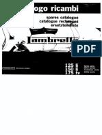 Manual despiece Lambreta LI 125,150,175 Series 3 Early