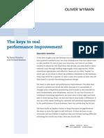 Keys to Performance Improvement-OW