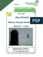 PNL - Prova Fase Distrital em Montemor
