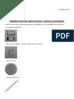 Práctica nº 12 - Sonorización con amplificación y control distribuido -