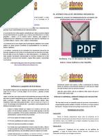 Ateneo Programa Actos 8 de Marzo 2012