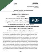 Press Release - Theater Season 12-13 Copy