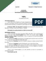 TOEFL Romanian Version 2011-12