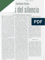 Entrevista de Martínez Carrizales a Guadalupe Dueñas