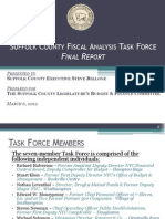 Suffolk County Fiscal Analysis Task Force Report Presented to the Suffolk County Legislature 3-6-2012