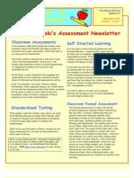 ski Christine. CI 407. Cohort 4. Assessment Newsletter