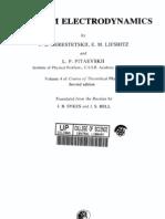 Vol 4 - Landau, Lifshitz - Quantum Electrodynamics (2ed., Pergamon, 1982)(ISBN s