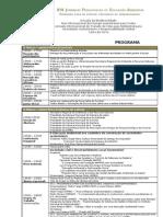Programa - XIX Jornadas Pedagógicas de Educação Ambiental - 08 a 11 de Março de 2012