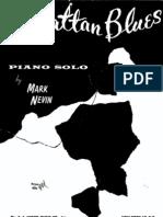 Manhattan Blues - Piano-solo - 1962 - Sheet Music