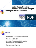 Structured ZnO Growth Using Electrochemical Deposition for Light Management in Solar Cells