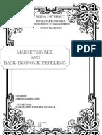 Marketing Mix and Basic Economic Problems 00