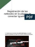 Tutorial Registración de las netbooks en la pagina de Conectar Igualdad