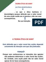 A TEORIA ÉTICA DE KANT