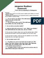 Kindergarten Preparedness