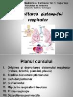 1. Dezvoltarea Sistemului Respirator