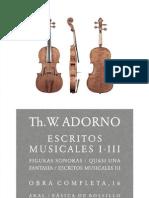 Adorno, Theodor - Escritos Musicales I-III (16)
