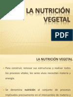 La Nutrición Vegetal