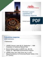 Enertech support  capabilities for  Fukushima response
