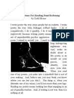 Instructions for Reading Dead Reckoning by Todd Moore