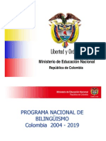 Programa Nacional Bilinguismo