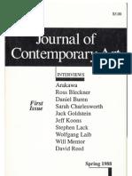 Journal of Contemporary Art