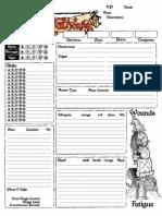 50 Fathoms Character Sheet