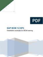 BCM 7 Training Example Installation Configuration SP2