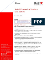 Global Economic Calendar–Asia Edition-HSBC