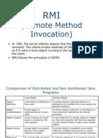 Remote Method Invocation NEW