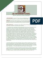 Mutual Nondisclosure LB International