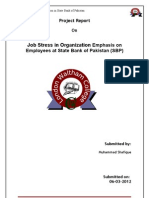 Shafiq Job Stress in Organization at State Bank of Pakistan