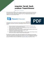 Akses Komputer Jarak Jauh Menggunakan Team Viewer