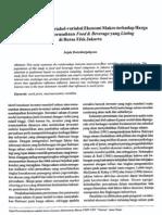 Analisis Pengaruh Variabel Ekonomi Makro Terhadap Harga Saham an Food & Beverage Yang Listing Di BEJ