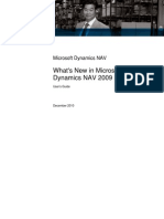 What's New in Microsoft Dynamics NAV 2009 R2