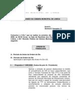 Reunião Pública da CML - 26 de Novembro - Ordem de Trabalhos