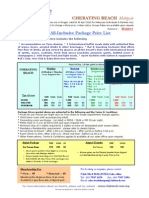 ClubMed Malaysia Price List