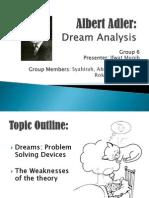 Albert Adler-Dream Analysis