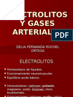 Electrolitos y Gases Arteriales