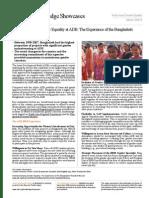 Institutionalizing Gender Equality at ADB