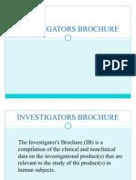 Investigators Brochure