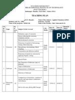 Teaching Plan Applied Physics