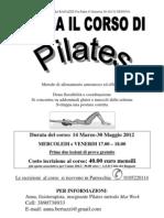 Corso Di Pilates 2012  14 Marzo-30 Maggio 2012