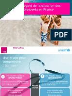 L'opinion à l'égard de la situation des enfants et adolescents en France
