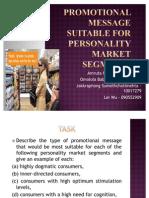 Buyer Behaviour Personality FINAL WORK[1]