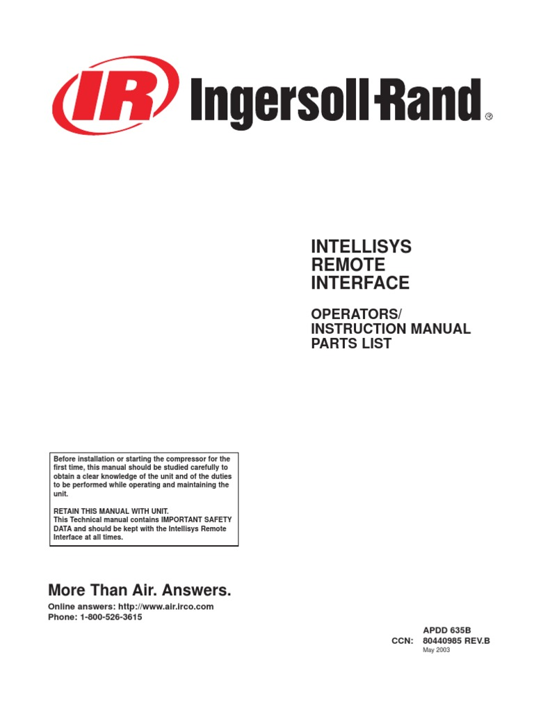 Ingersoll Rand Ssr Ep20 Air Compressor Manual Indemnity Negligence